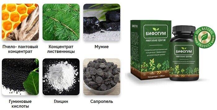 Органическое удобрение Бифогум 160 мл - фото состав удобрения Бифогум