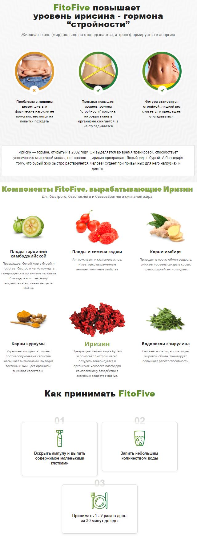 Ампулы FitoFive (ФитоФайв) для похудения