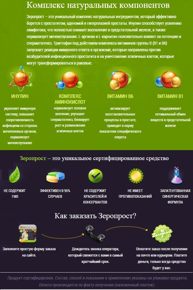 Препарат Зеропрост от простатита - фото купить Зеропрост