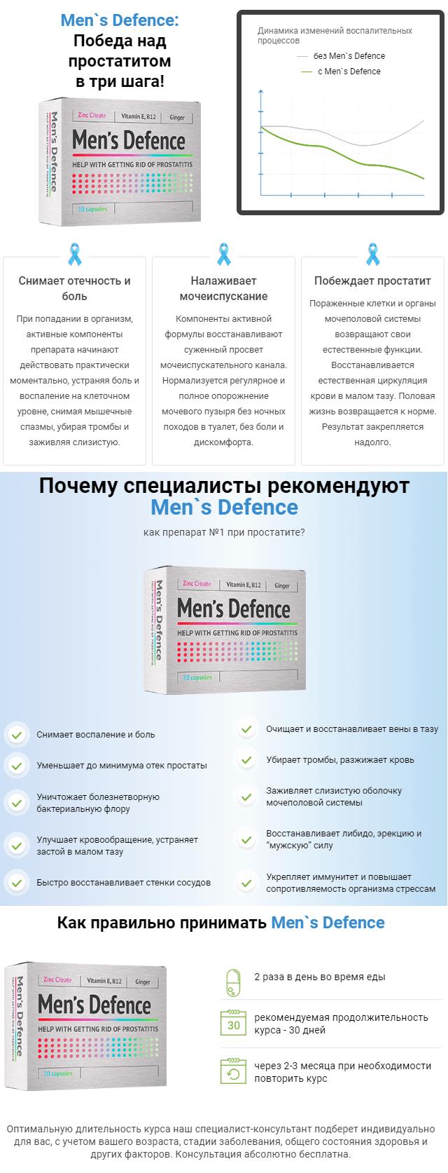 Капсулы от простатита Men's Defence