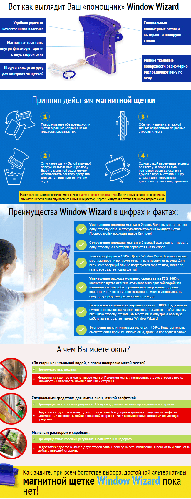 щетка Window Wizard купить
