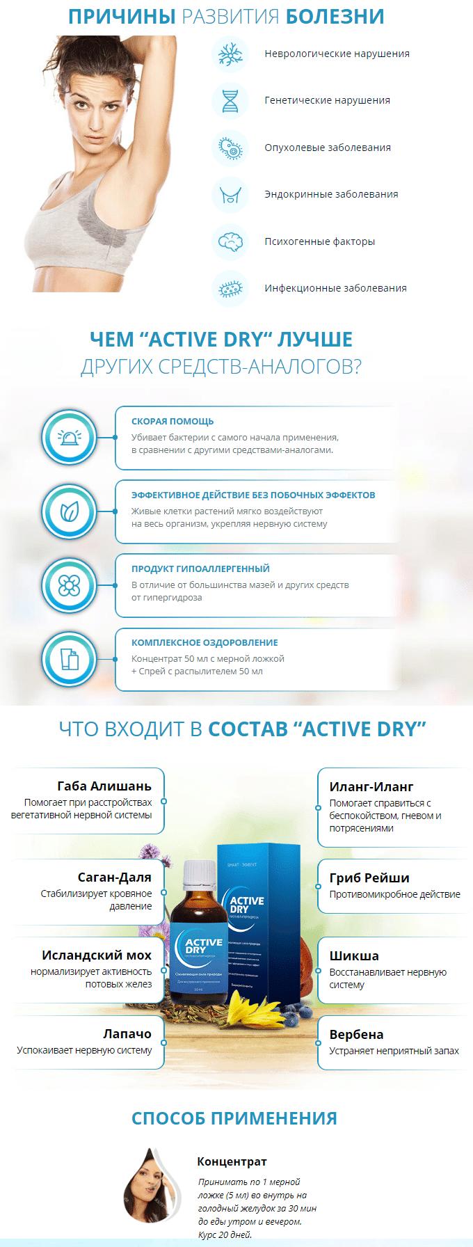 Концентрат Active Dry от потливости