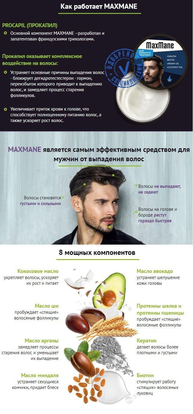 Маска для волос MaxMane (от облысения)