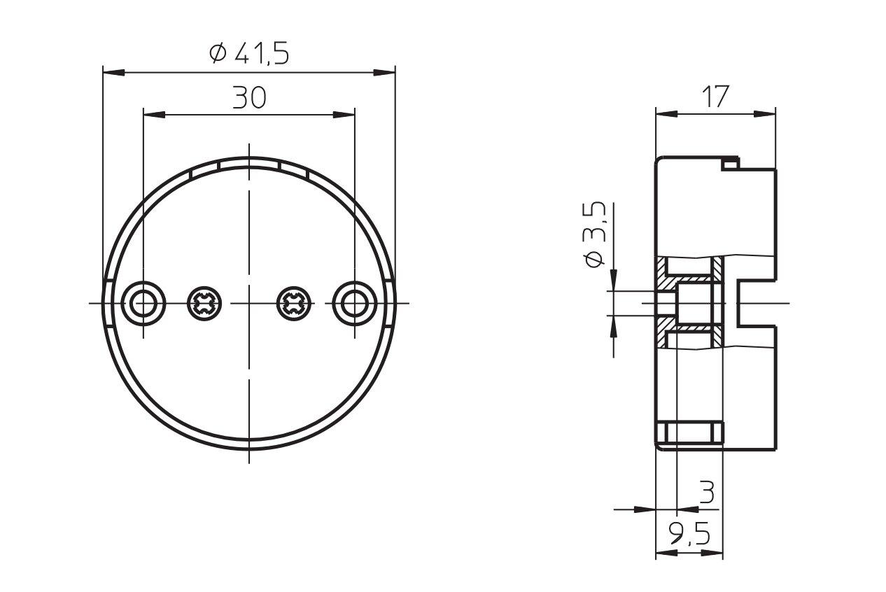 Патрон G13 накидной 101781, для ламп Т12. Vossloh-Schwabe (Германия)