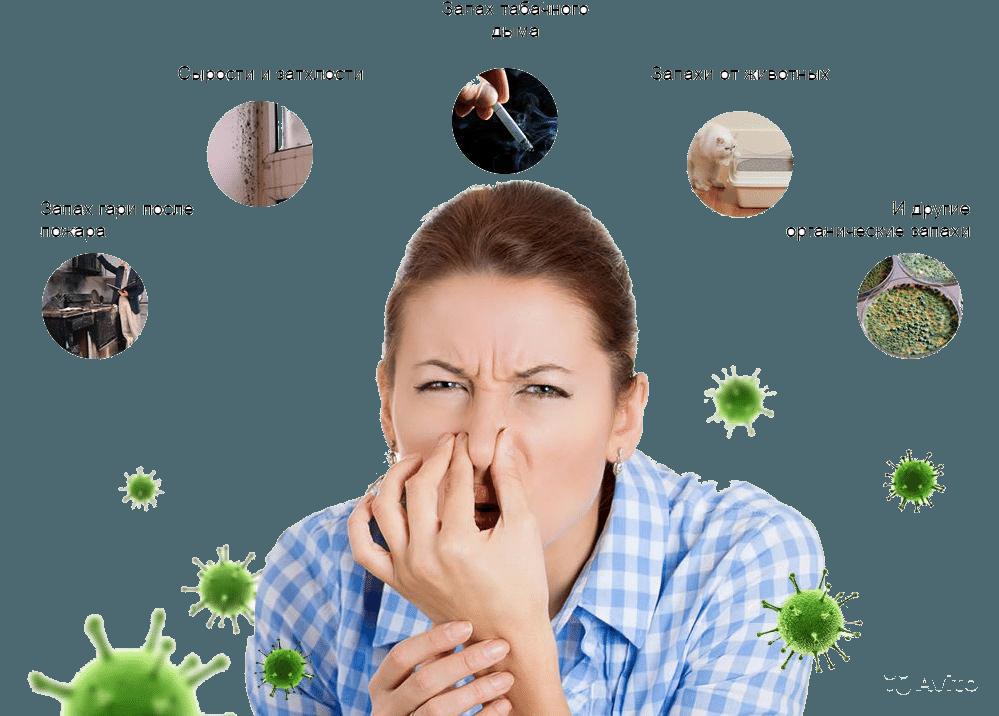 Удаление неприятных запахов озоном