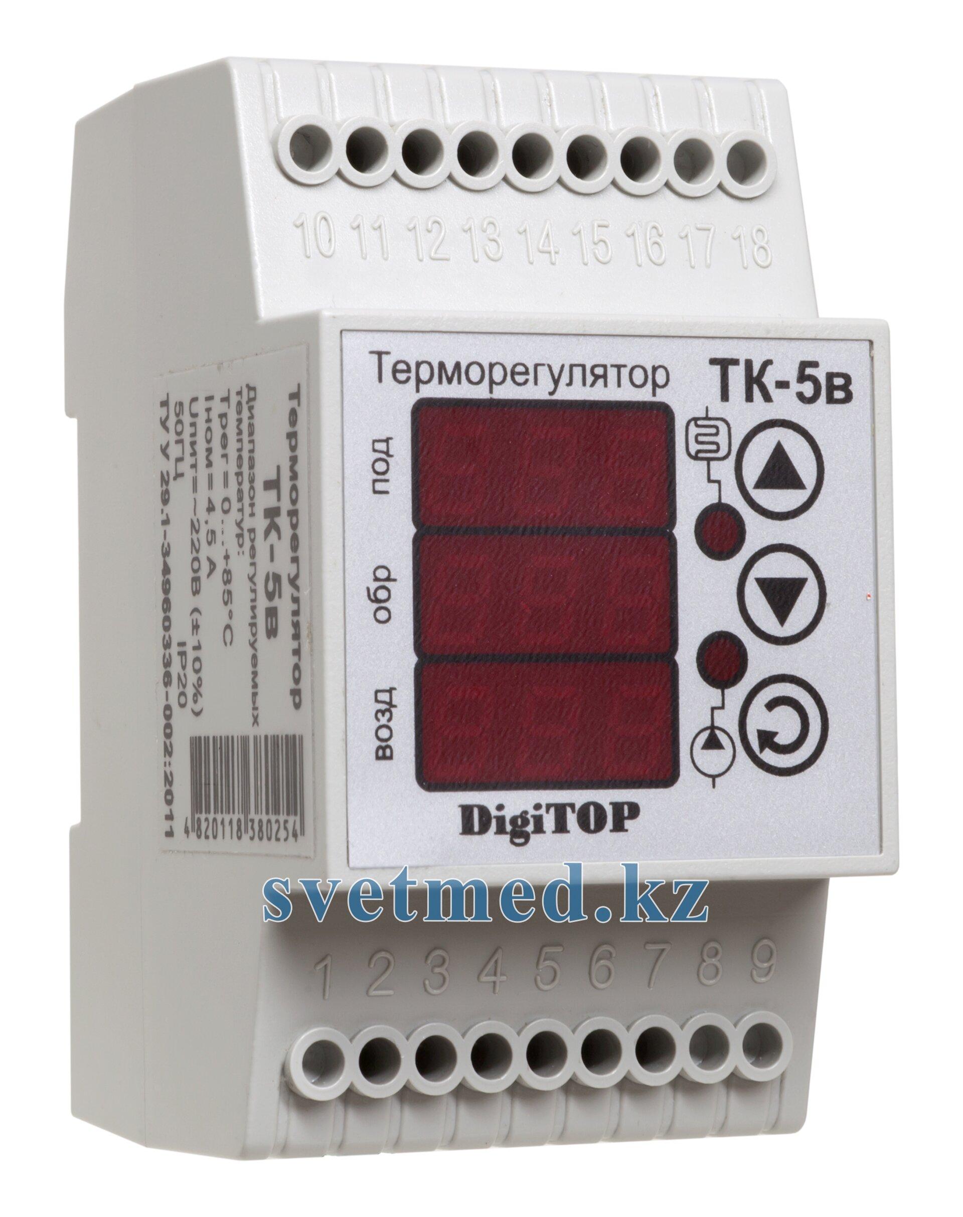 Терморегулятор ТК-5в (0… +85°C, 2х6А) - фото pic_f3135842cf5aaa5_700x3000_1.jpg