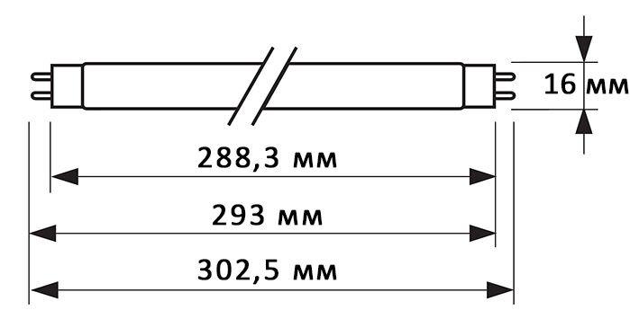 Физические данные лампы Philips TUV 8W G8T5 .jpg