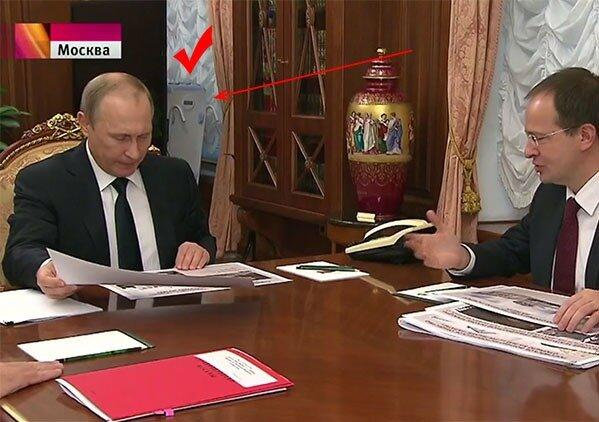 Облучатели бактерицидные (кварцевые лампы) - фото Путин и рециркулятор.jpg