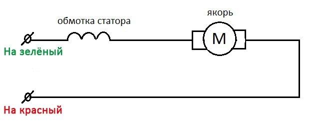 Схема коммутации в двигателе