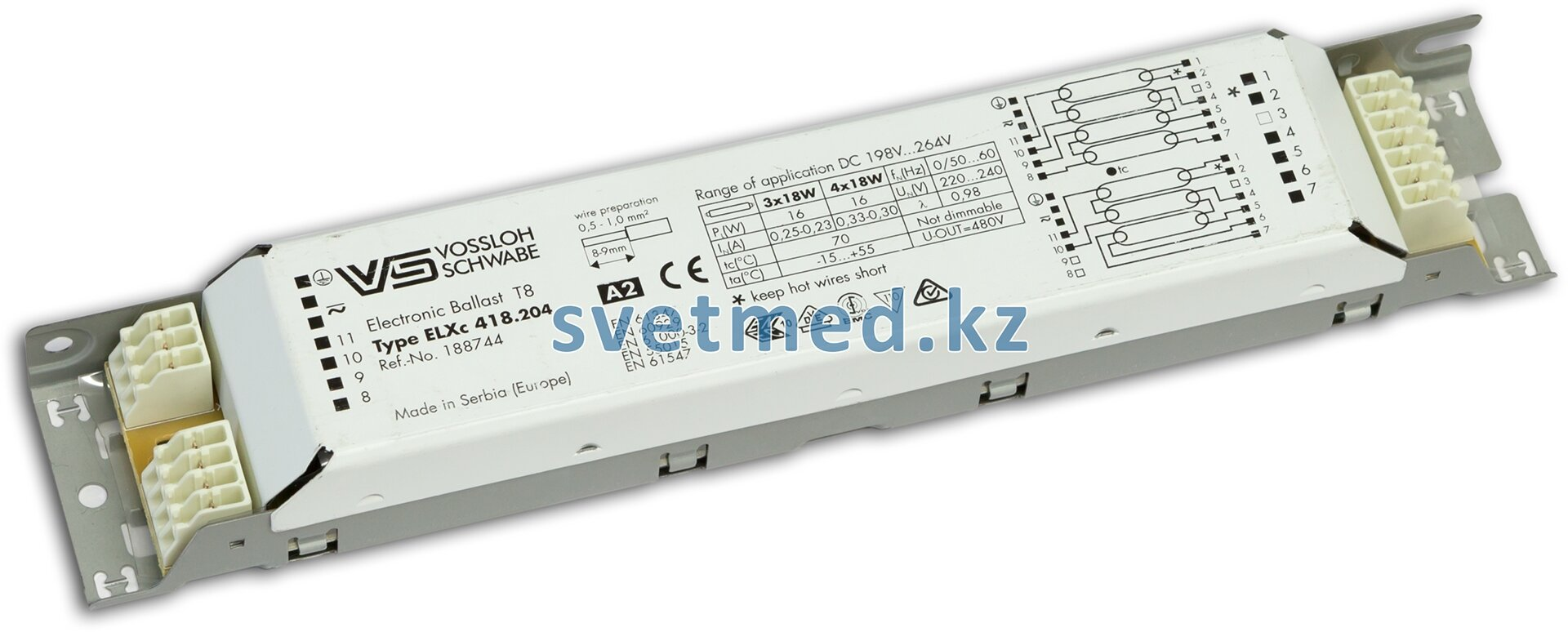 Электронный балласт Vossloh-Schwabe ELXс 418.204