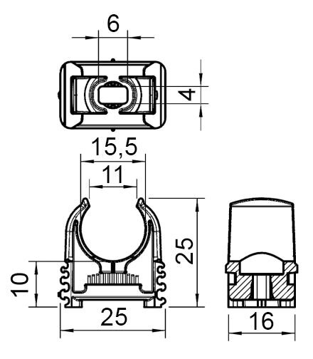 Скоба Quick для труб, с отверстием для дюбеля 2957 M16 - фото pic_42fdcdf7270980d_1920x9000_1.jpg