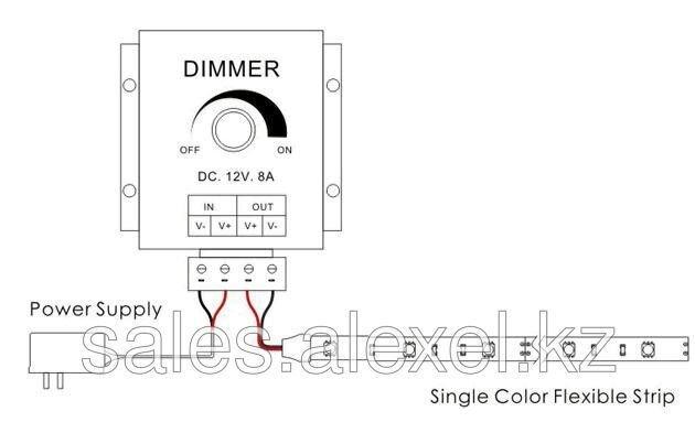 Регулятор яркости  диммер 12В 8А XF-8 - фото 1
