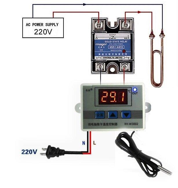 подключение твердотельного реле к терморегулятору