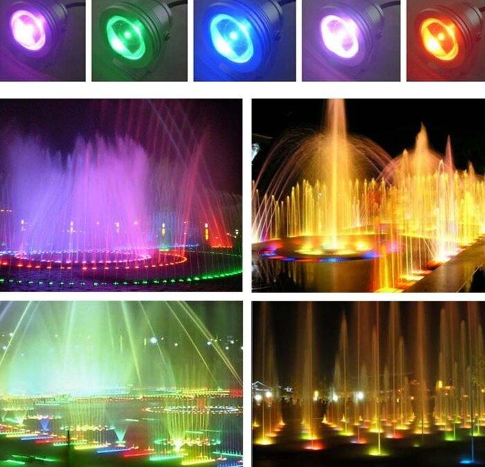 Светодиодный водонепронецаемый прожектор RGB 10Вт - фото 1