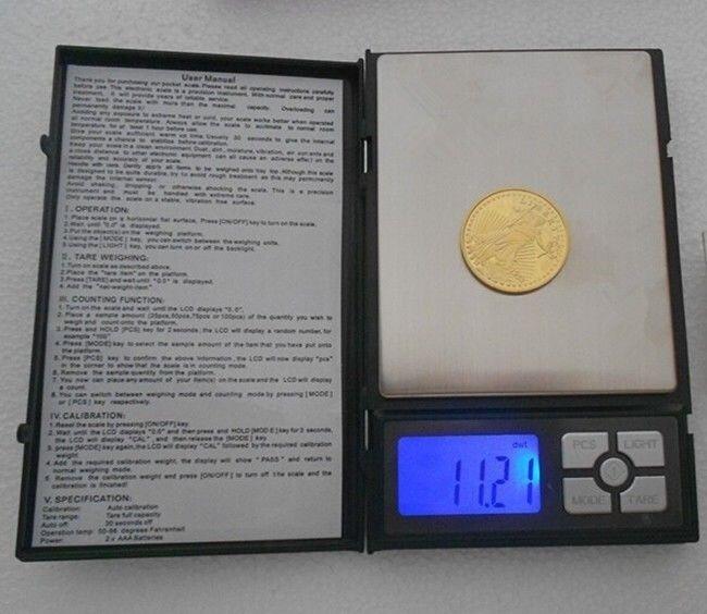 Компактные ювелирные электронные весы от 0,1 г - 2000 г. - фото 1
