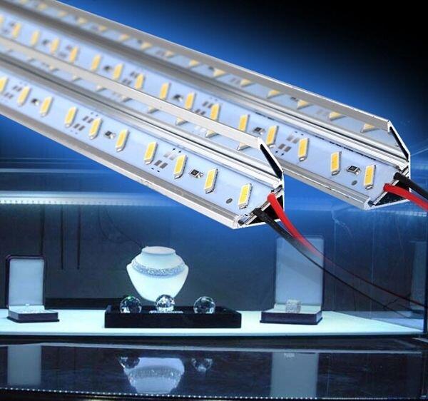 Светодиодная полоса 7020 и профиль с зеркальным отражателем 50 см - фото 1