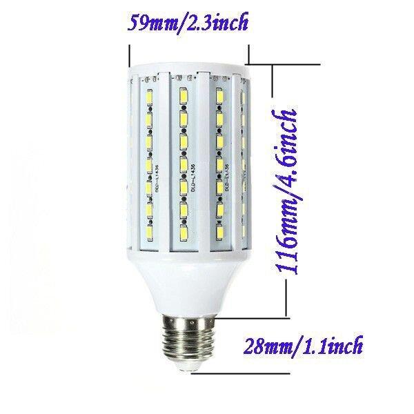Светодиодная лампа-кукуруза 25W E27 теплая - фото 1