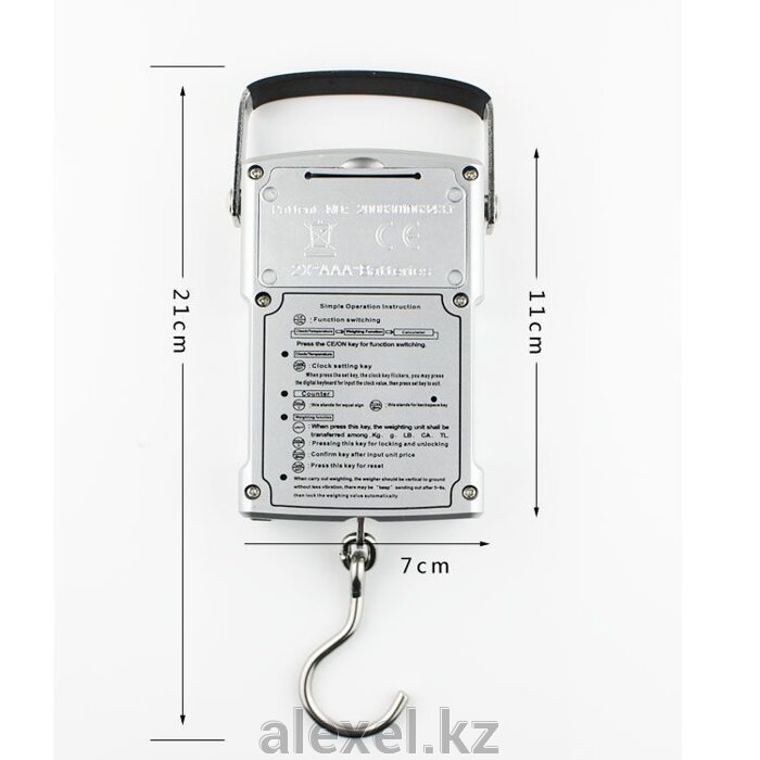 Многофункциональные портативные весы с калькулятором WH-A11 до 50 кг - фото 1