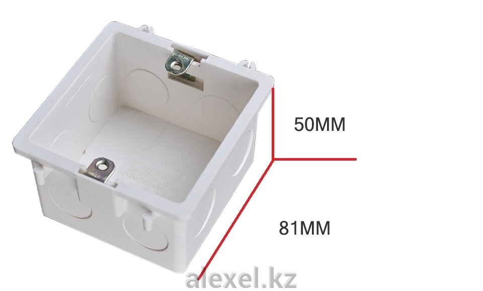 Подрозетник квадратный монтажная коробка 86*86 - фото монтажная коробка 86 х 86