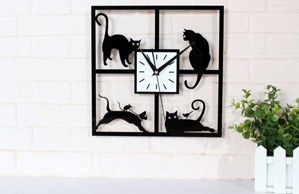 """Настенные часы """"Кошки"""" - фото 1"""