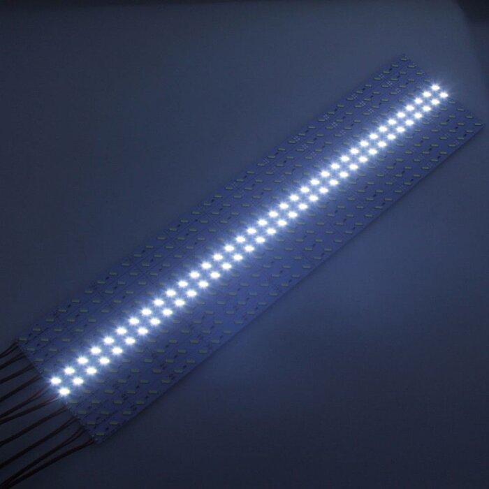 Светодиодная алюминиевая полоса SMD 7020 белая - фото 1