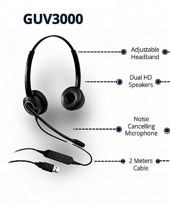 USB гарнитура с микрофонным шумоподавлением